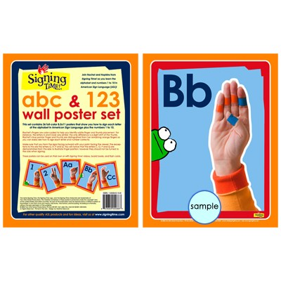 ABCs and 123s Wall Posters